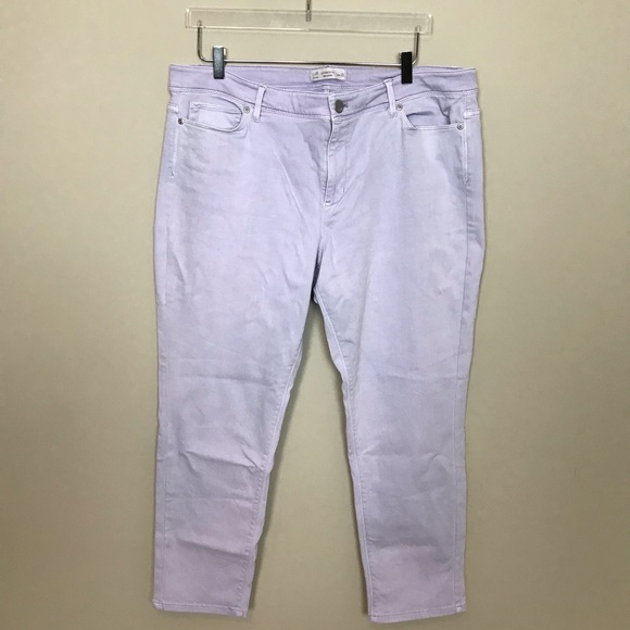 J. Jill Denim - J. Jill Light Purple Authentic Fit Slim Ankle